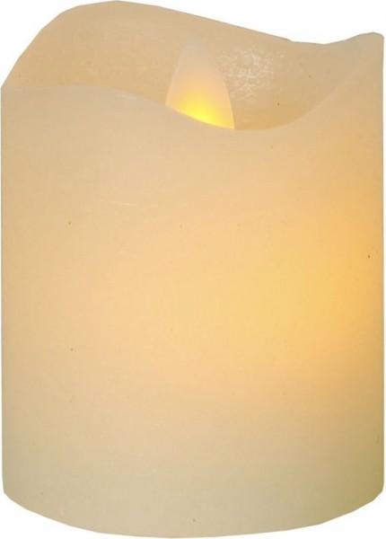 LED-Teelicht-Echtwachs-Glim-Design-mechanisch bewegte-Flamme-Timer-→5cm-↑6cm-2er-Set